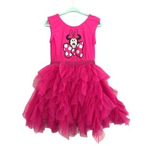 Disney Minnie Mouse Leotard Ruffle Dress 4T